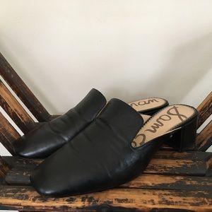 Sam Edelman Black Leather Adair Mule